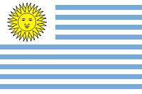 Bandera de Uruguay (1828-1830).